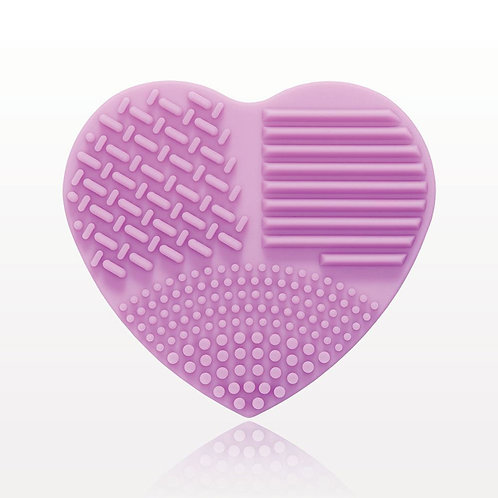 Heart-shaped Brush Cleansing Pad