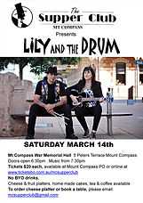 Lily and the Drum Poster Mt Compass 14th