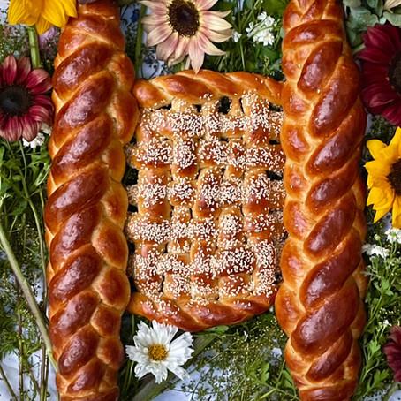 A beautiful Torah - Shaped Challah Recipe