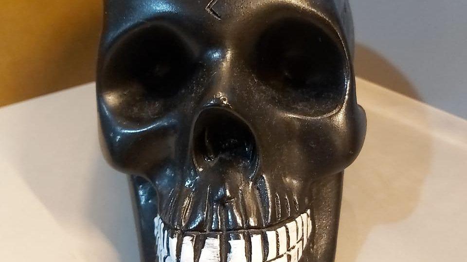 Crânio preto 22cm