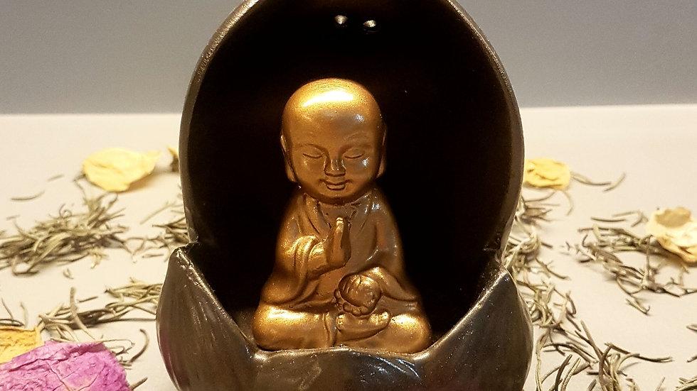 Incensário cascata monge no lótus