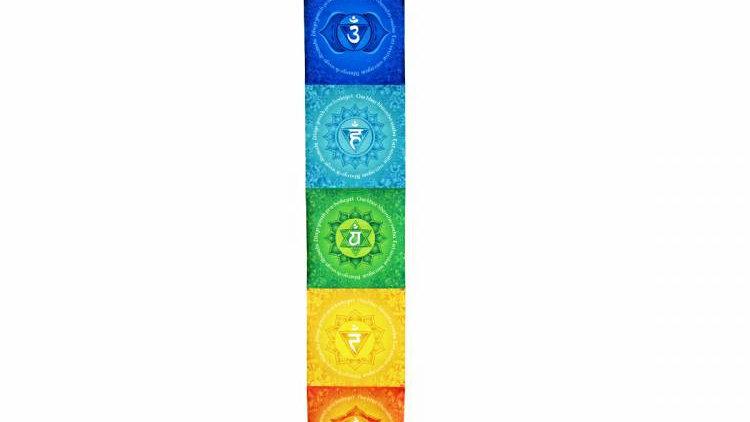 Pergaminho vertical dos 7 chacras 1m