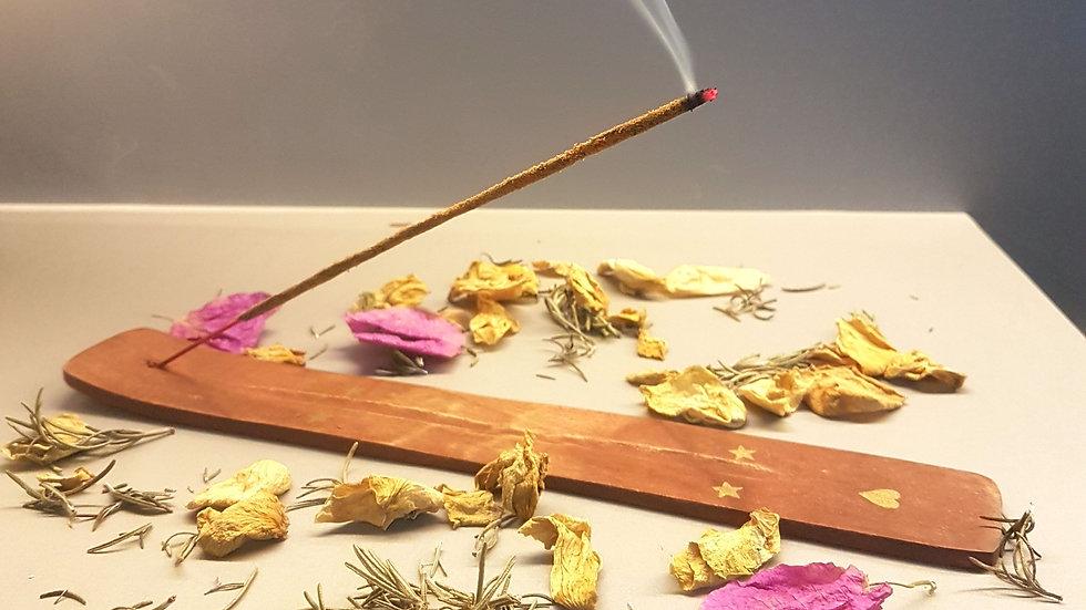 Incensário canaleta em bambu