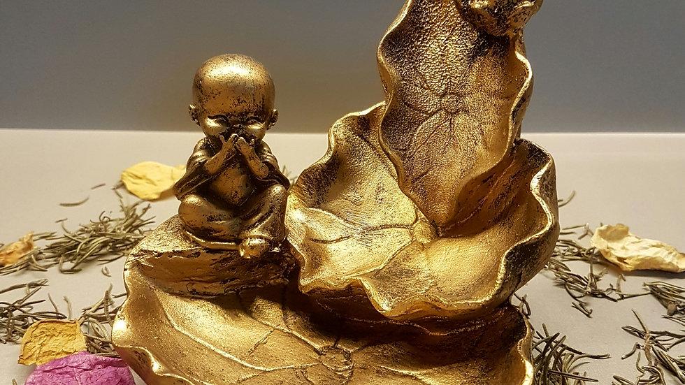 Incensário Cascata Buda mudo