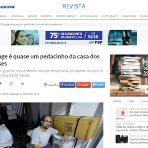 A Home Stock - Self Storage marca presença na Revista do Correio Braziliense - 15/10/2017