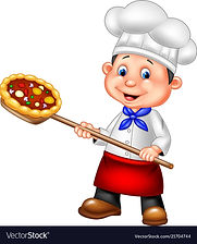 cartoon-chef-holding-pizza-vector-217047