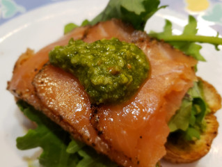 Quick & Easy Breakfast: Salmon Pesto Toast