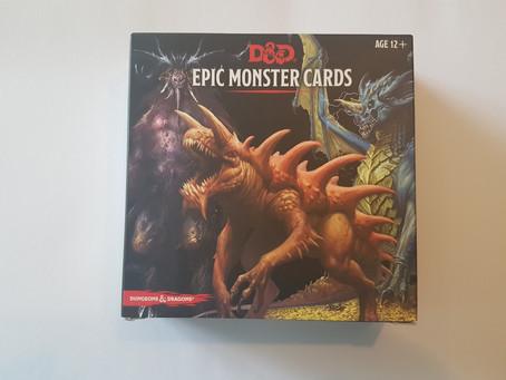 UKGE Awards Best Expansion Category: D&D Epic Monster Cards