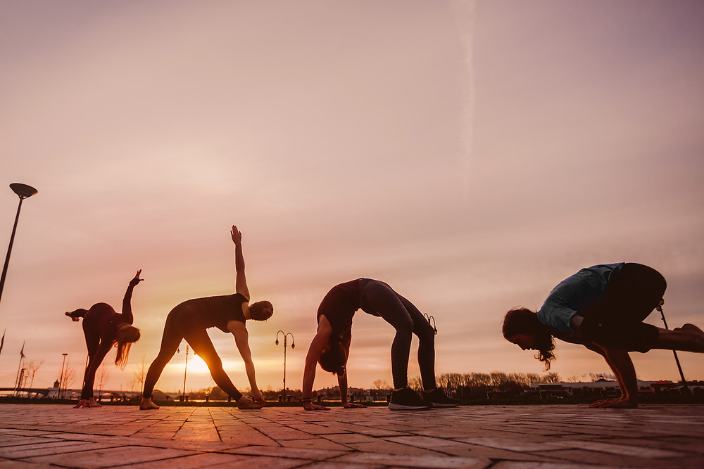 Yogaja Yoga teachers at Promenade Park Mary Wyar Photography