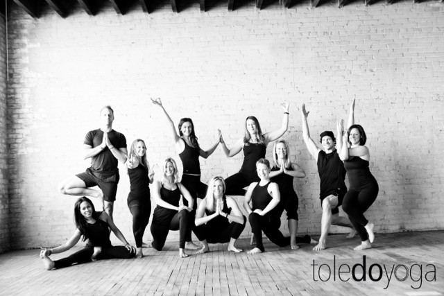 Toledo Yoga teachers in various yoga poses