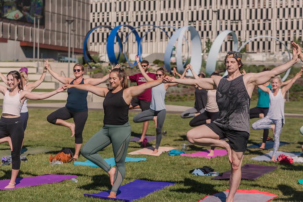 ONE Yoga Festival by Mary Wyar