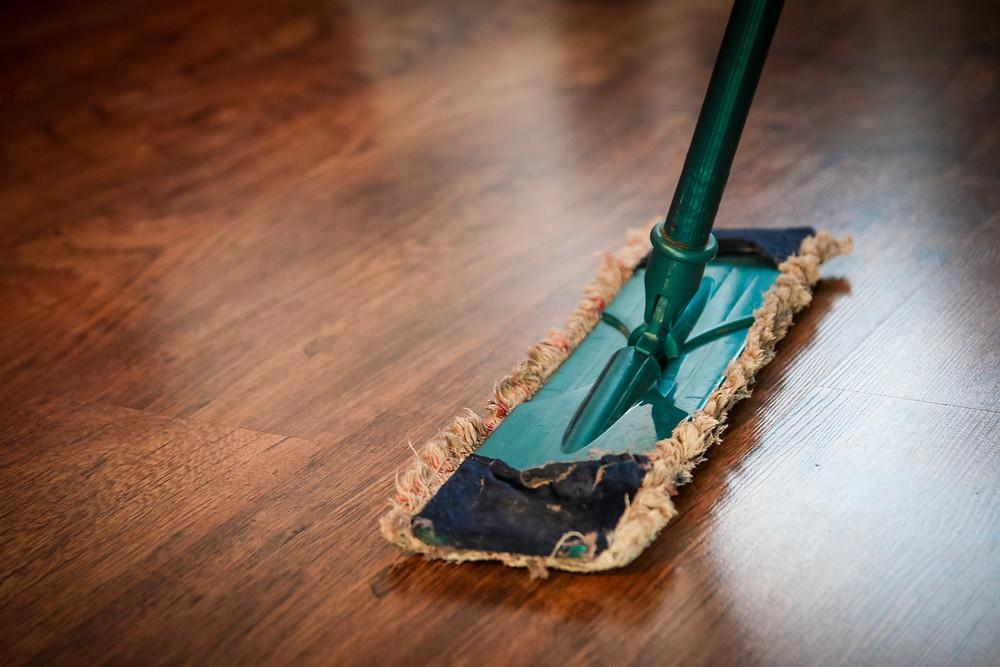 Mop on floor