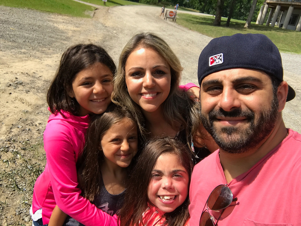 Elias and Joy Hajjar and their girls, Rose, Dahlia and Jasmine