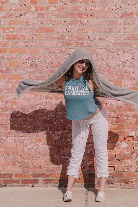 Lisa Morlock wearing Yogaja Shop clothes by Mary Wyar Photography