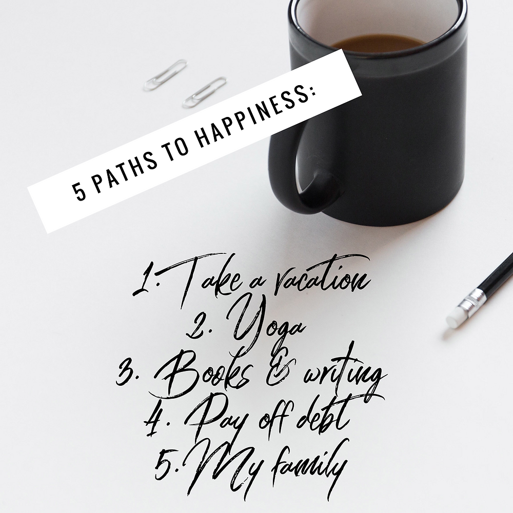 Path to happiness exercise
