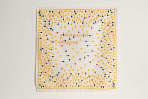 Outros mundos possíveis, 2020  Bordado sobre lenço de algodão estampado Dimensões: 30 cm x 30 cm Fotografia: Junior Luis Paulo