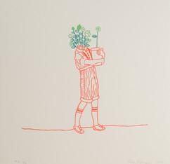 """Sem título, 2017   Série """"Florescer. Flores ser""""  Serigrafia sobre papel Dimensões: 30 cm x 30 cm  Edição: 60 impressões + P.A. e P.E. Fotografia: Junior Luis Paulo"""