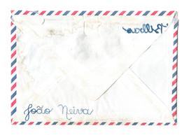 """Sem título, 2020  Série """"Casa 34"""" Bordado sobre envelope de carta com marcas do tempo (sem data) Dimensões: 12 cm x 16 cm"""