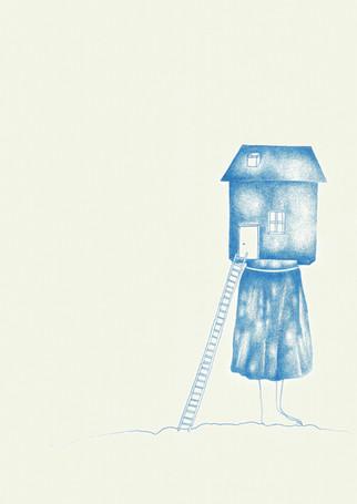 """Sem título, 2016  Série """"Tudo o que não invento é falso"""" Desenho com grafites coloridos para lapiseira 0.5 mm sobre papel creme g/m² 220  Dimensões: 21 cm x 15 cm  A série é composta por 10 desenhos."""