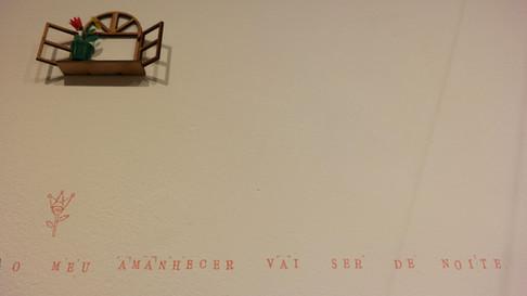 Tratado geral das grandezas do ínfimo, 2019  Exposição individual, na Galeria de Arte Ibeu, no Rio de Janeiro/RJ. Desenhos, bordados, dobraduras de papel, miniaturas, objetos, brinquedos e carimbos com textos de Manoel de Barros. Curadoria: Cesar Kirally