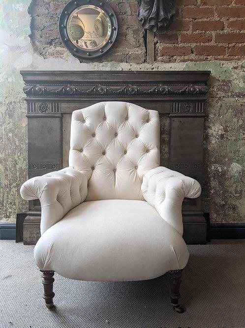 Reupholstered Napoleon III Chair
