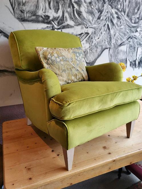 Handmade velvet Howard Armchair