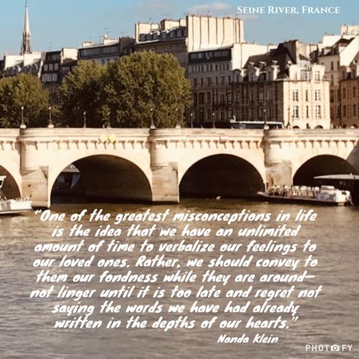 Do not linger - Seine River