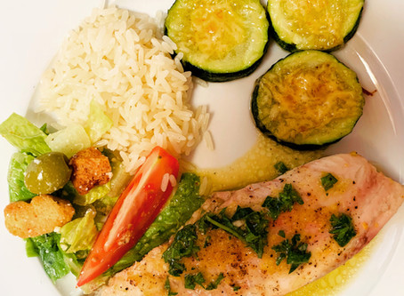 Fish Fillet with Mediterranean Sauce