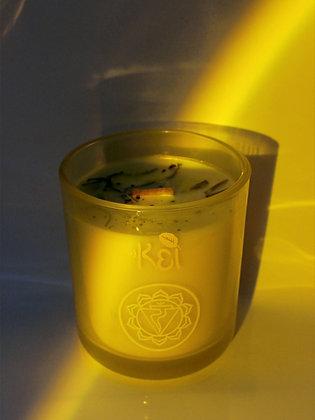 Solar Plexus Chakra Meditation Candle