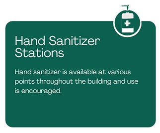 Hand sanitizer available