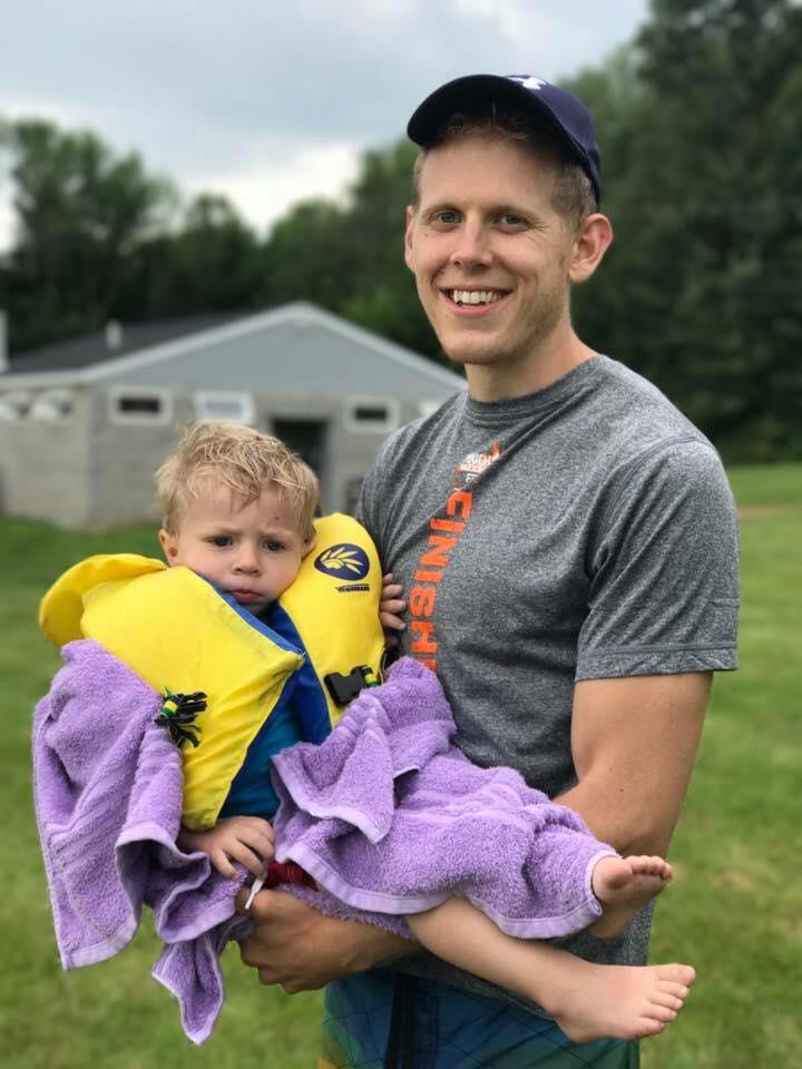 Lifeguard Josiah rescuing Levi
