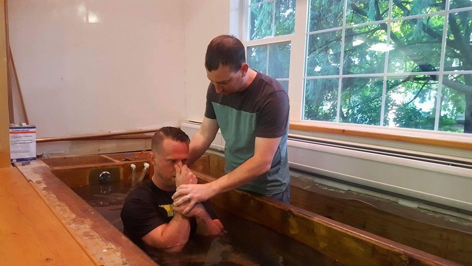 Jeff's baptism
