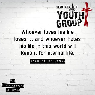 Cost of discipleship youth group verse.j