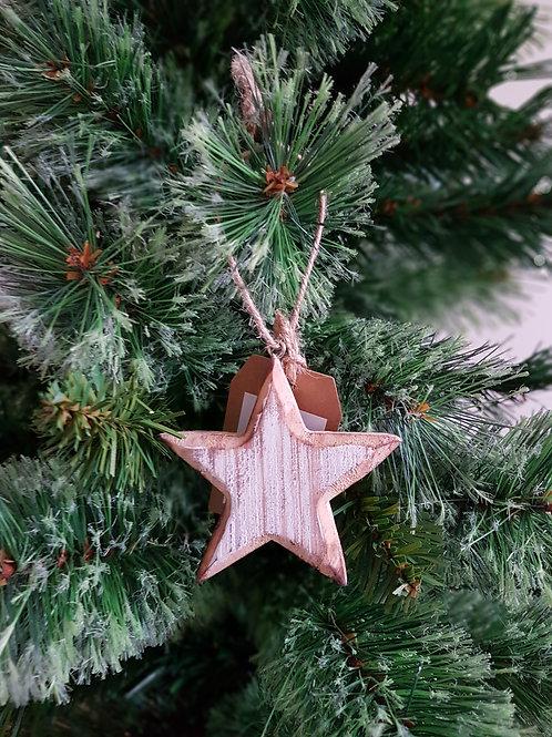 Natural Wooden Hanging Star