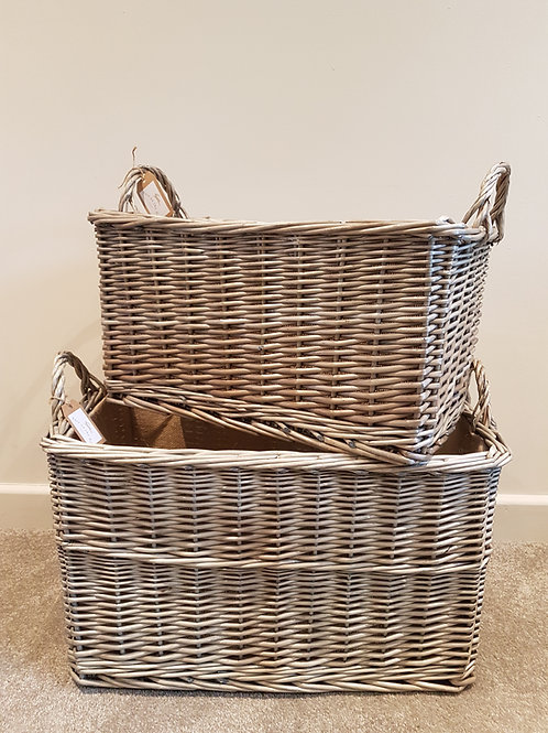 Set of 2 Willow Baskets