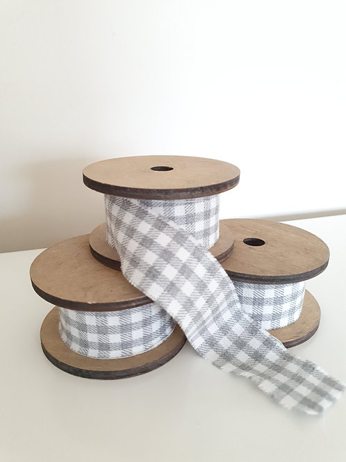 Grey Checked Ribbon