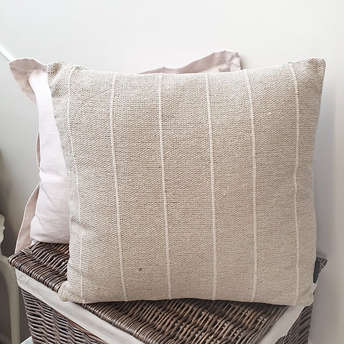 Natural Sleaford Stripe Cushion