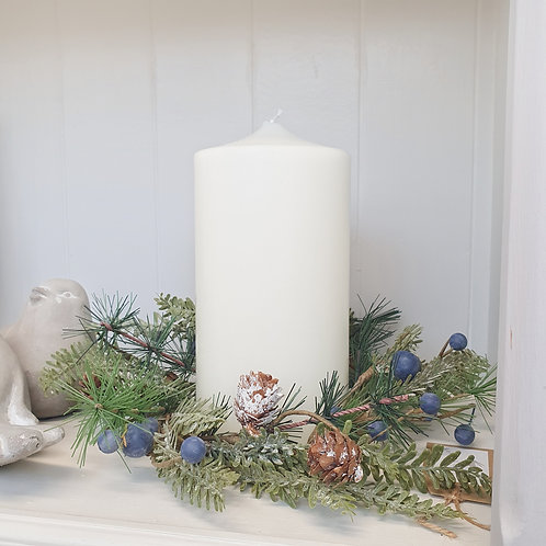 Festive Berry Candle Wreath