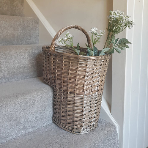 Antique Willow Stair Basket