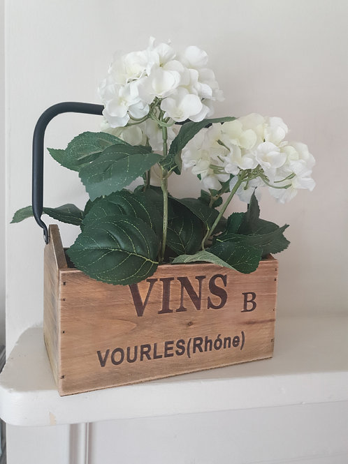 Wooden French style box with handle