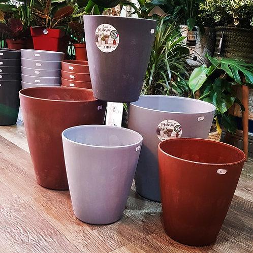 Pots plastique Made In France 3 couleurs et 2 tailles au choix. Réserve d'eau