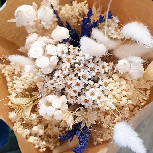 Bouquet de fleurs séchées - Blanc
