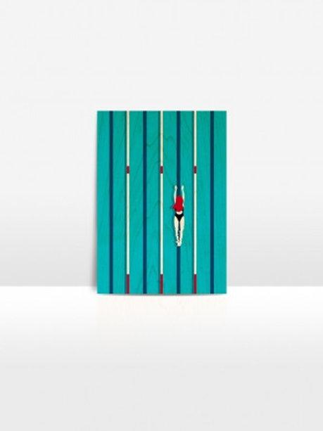 CARTE BOIS DE BOULEAU DESIGN SIMMINGPOOL