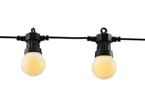 GUIRLANDE FETE 10 AMPOULES - 50 LED BLANC CHAUD