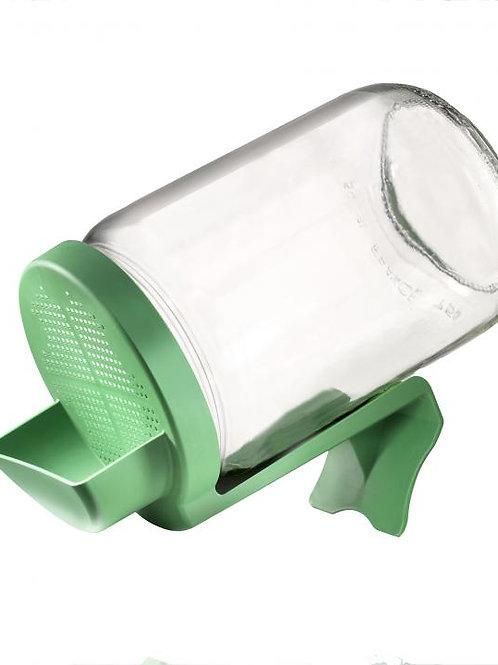 Germoir pour graines à germer, en verre et couvercle plastique
