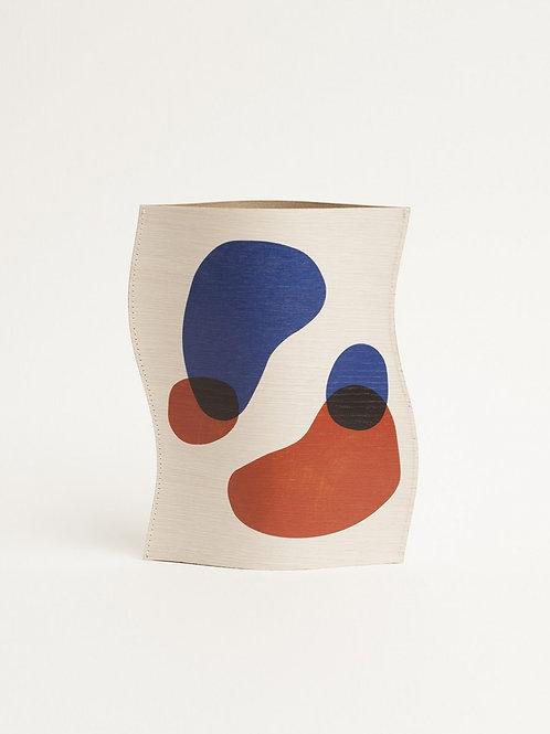 Vase en bois design ballon