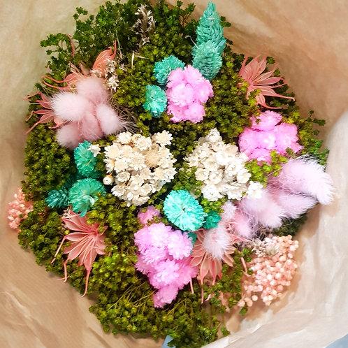 Bouquet de fleurs séchées - Vert