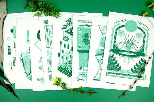 Sérigraphie artisanale 2 couleurs A4 - EDITION LIMITEE - Exemplaire Unique
