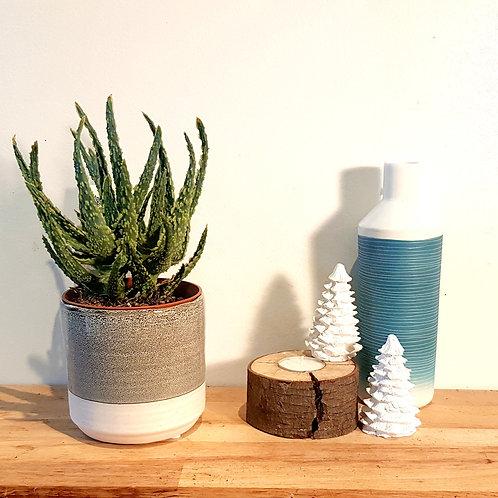 Cache pot Céramique - Graphique Gris et blanc diamètre 70cm
