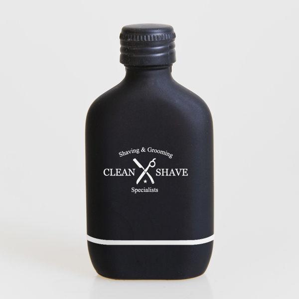 bottiglia Dopobarba con la banda bianca